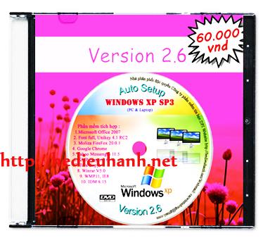 Windows XP SP3 cài đặt tự động(Auto Setup) 32bit ver 2.6