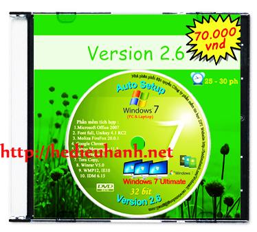 Windows 7 cài đặt tự động(Auto Setup) 32bit ver 2.6