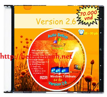 Windows 7 cài đặt tự động(Auto Setup) 64bit ver 2.6