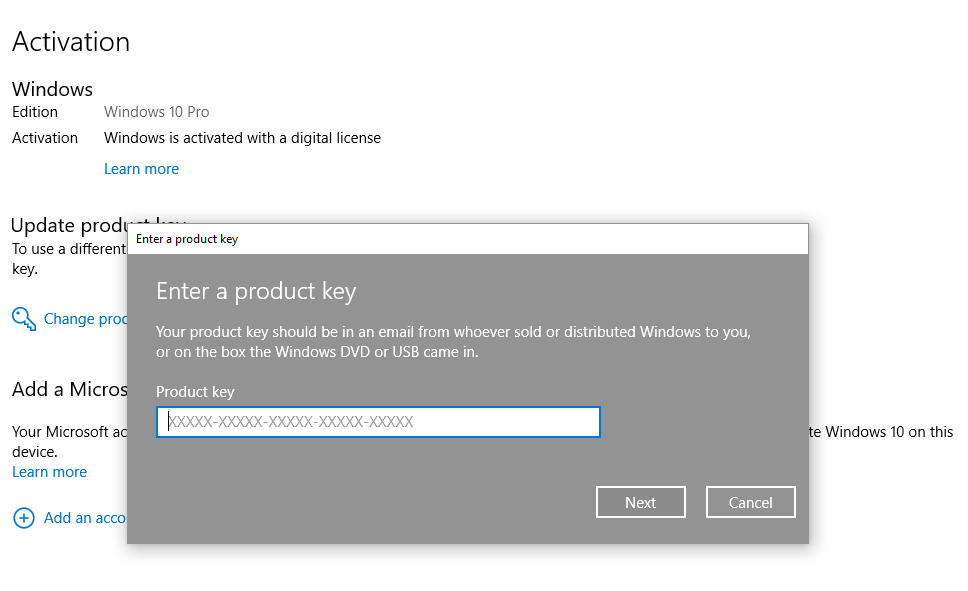 How to enter Windows 8/8.1/10 activation key online with the image