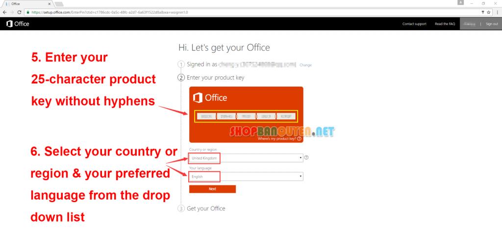 Key license Microsoft Visio 2016 Standard bản quyền vĩnh