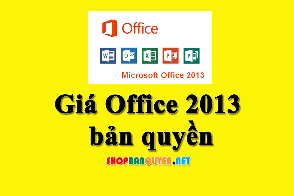 Giá Office 2013 bản quyền