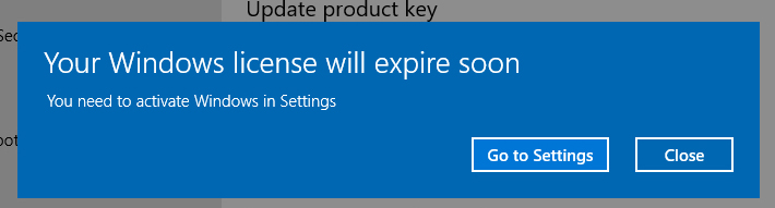 "Cách khắc phục ""Your Windows license will expire soon"" Windows 8.1 và 10 như thế nào?"